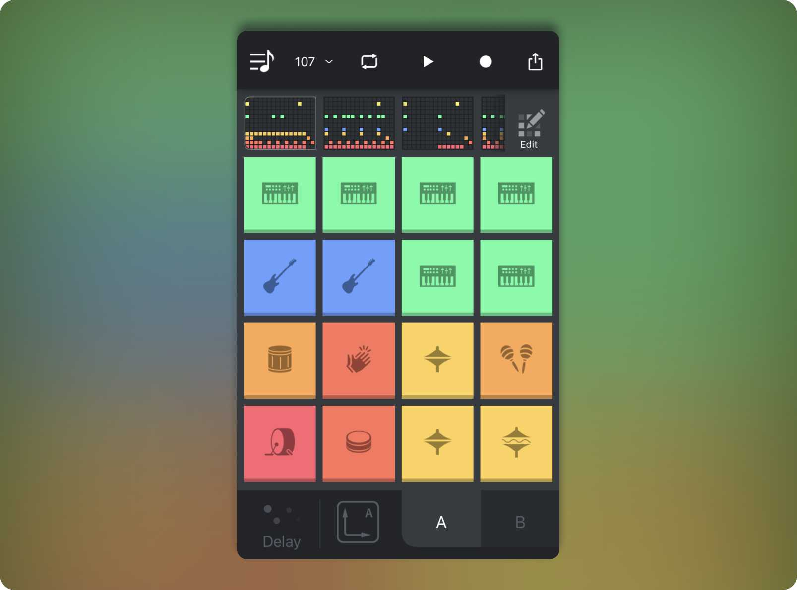 Beat Snap's grid of responsive pads