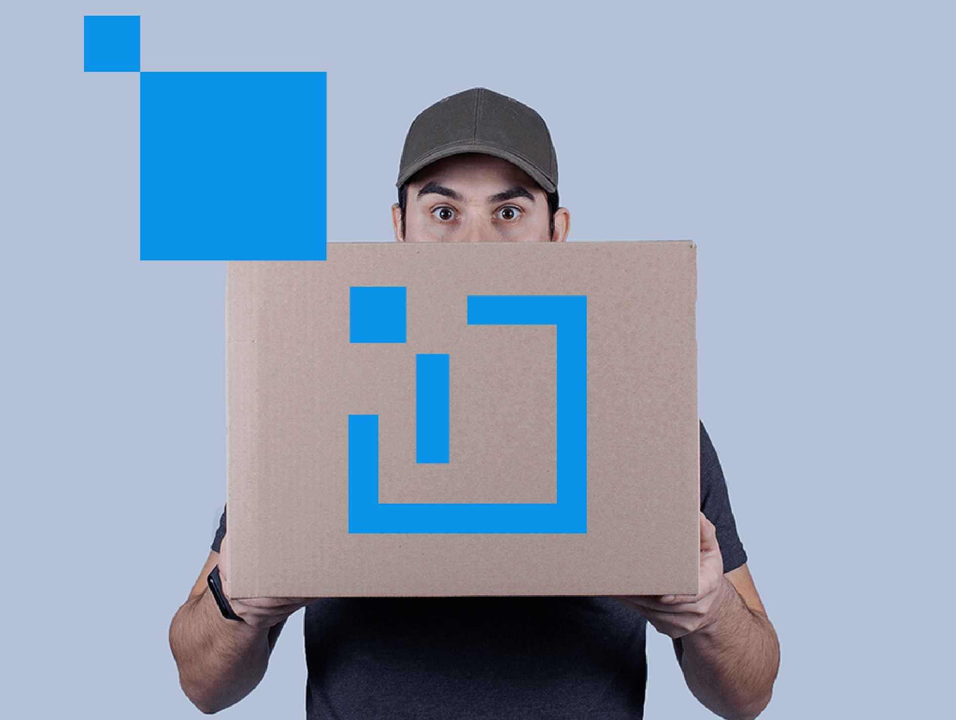 man holding a box in front of him