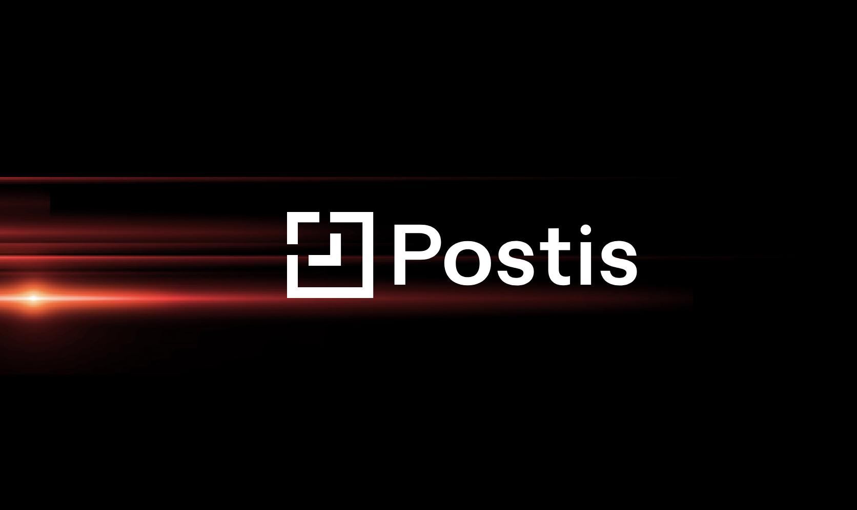 postis logo on dark background