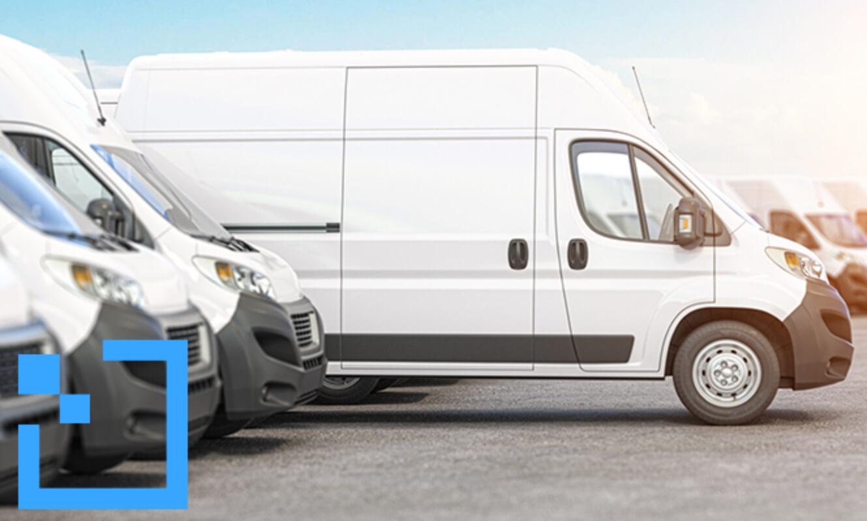 a white van parked