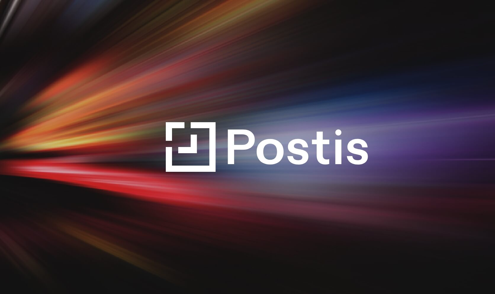 postis logo on a colorful abstract background