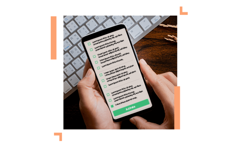 checklist on a smartphone screen
