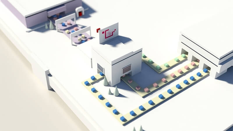 automatization 3d illustration