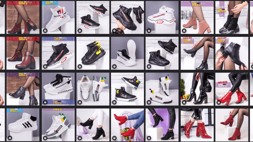 collage of shoes photos