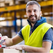 Person working in warehouse