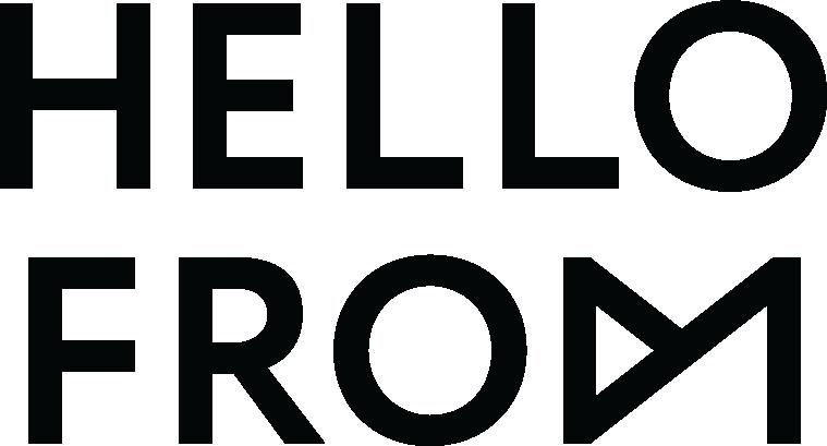 HELLOFROM Secondary Logo Black