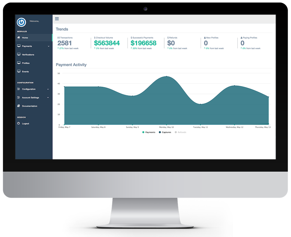six clovers platform dashboard on a desktop
