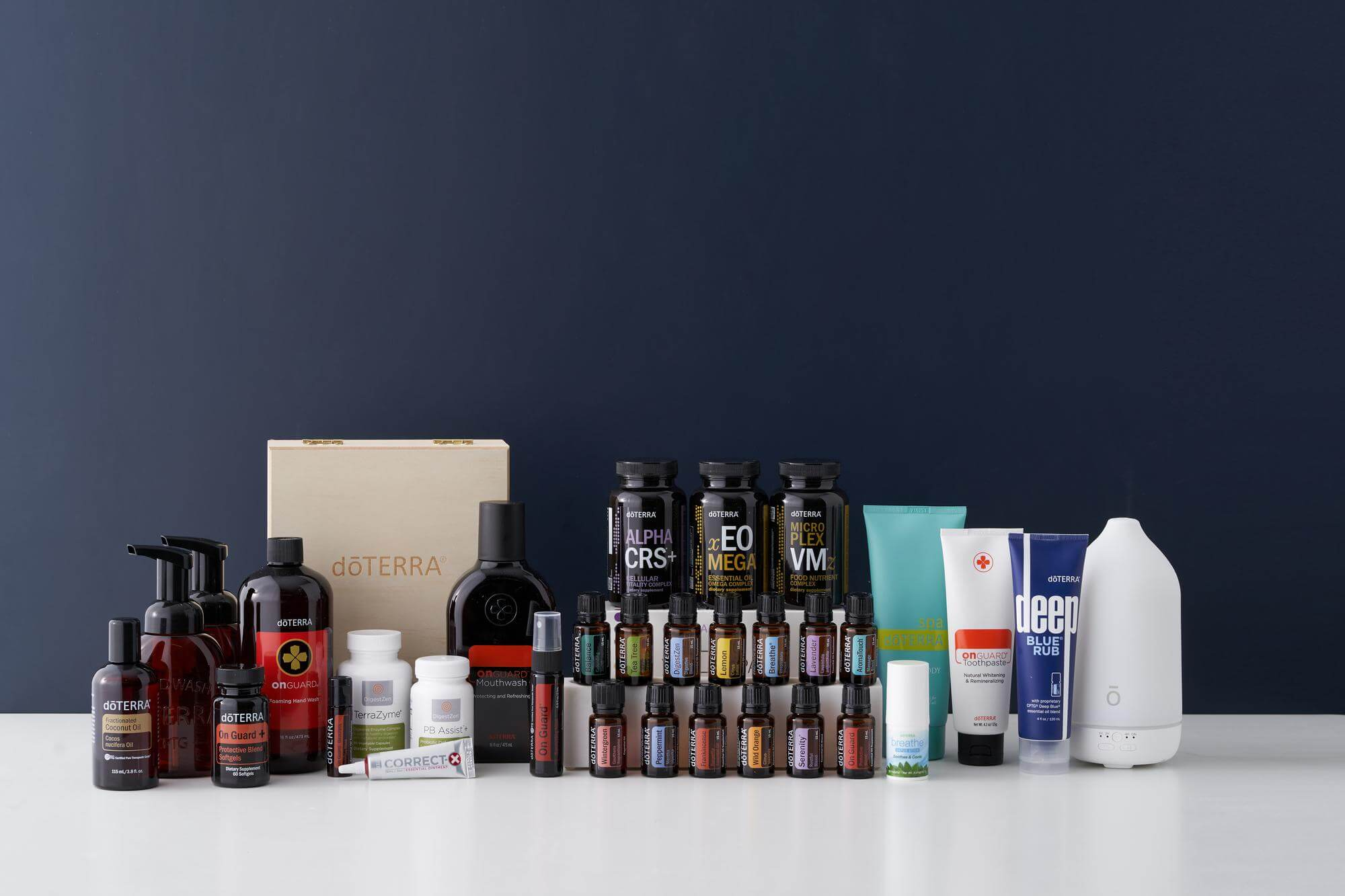 doTERRA Natural Solutions Kit displayed on table