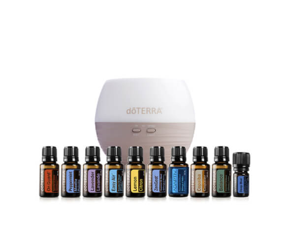 doTERRA Canada enrollment collection including 10 oils and petal diffuser.