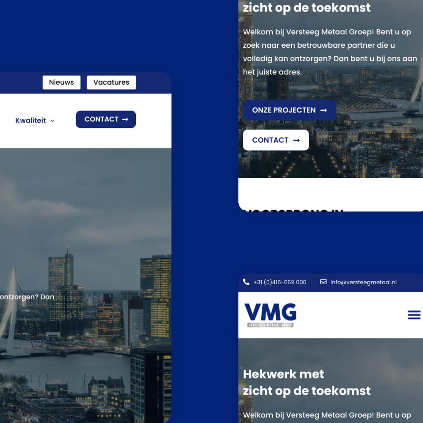 Versteeg Metaal | Website mobile responsive