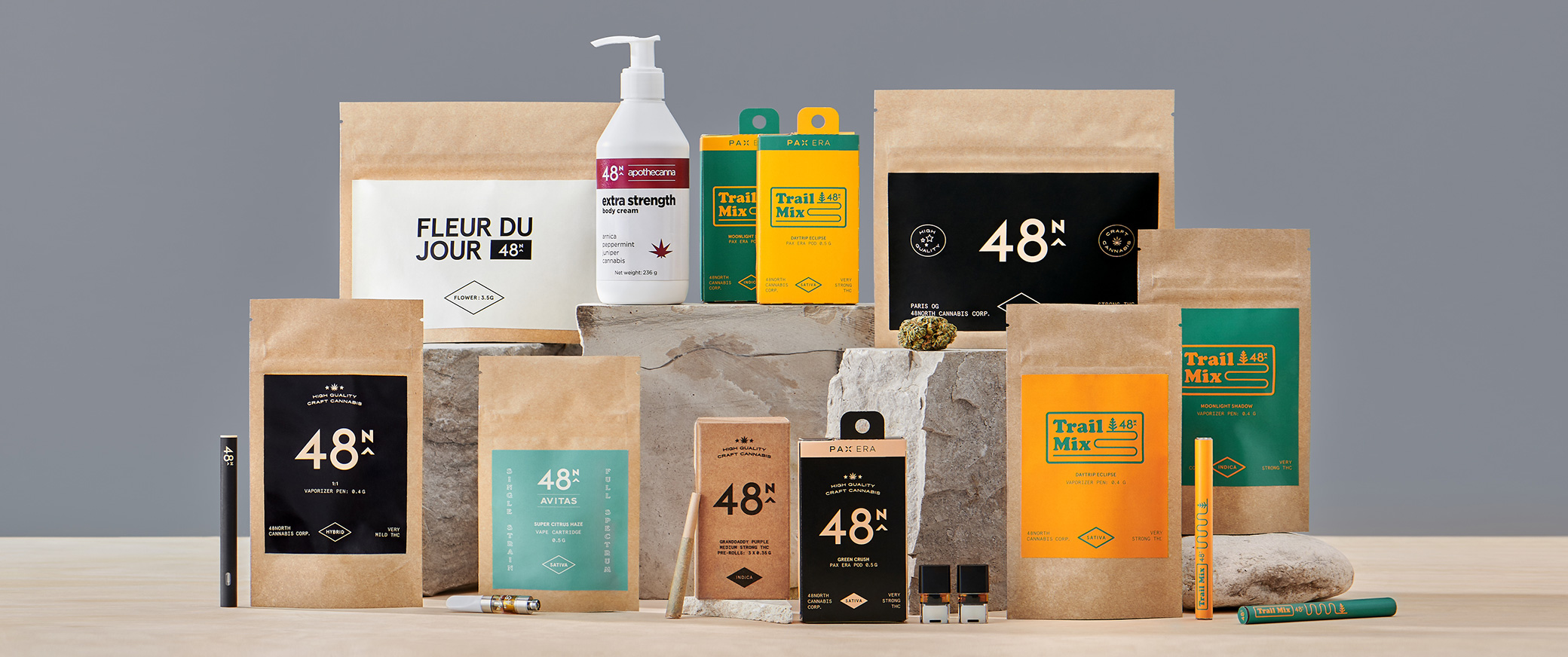 group photo of 48 north products