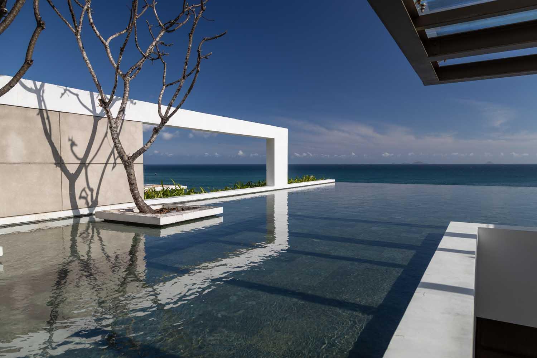 Infinity pool at mia resort nha tang shot by halo digital media - resort photography