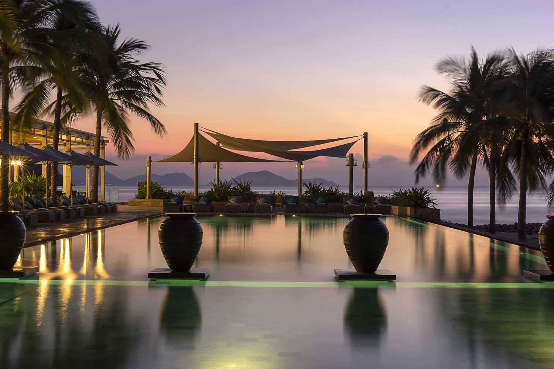 beautiful sunset  at mia nha trang resort - photo by Halo Digital Media - Nha trang  - hotel hotographer