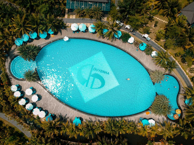 Duyen Ha resort Cam Ranh Main Pool phot by Halo Digital Media