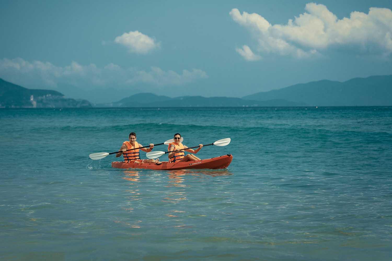 Duyen Ha resort Cam Ranh Beach kayaking photo by Halo Digital Media