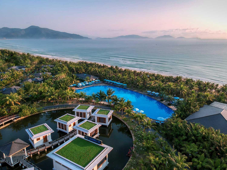 Duyen Ha resort Cam Ranh Besunset drone photo by Halo Digital Media - Vietnam hotel Photography