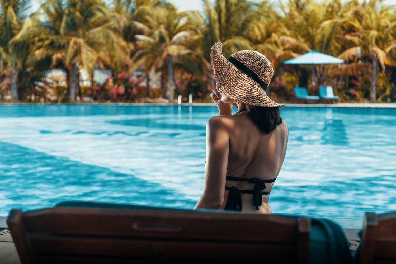 Duyen Ha resort Cam Ranh Beach cocktail by the pool photo by Halo Digital Media - Vietnam hotel Photography