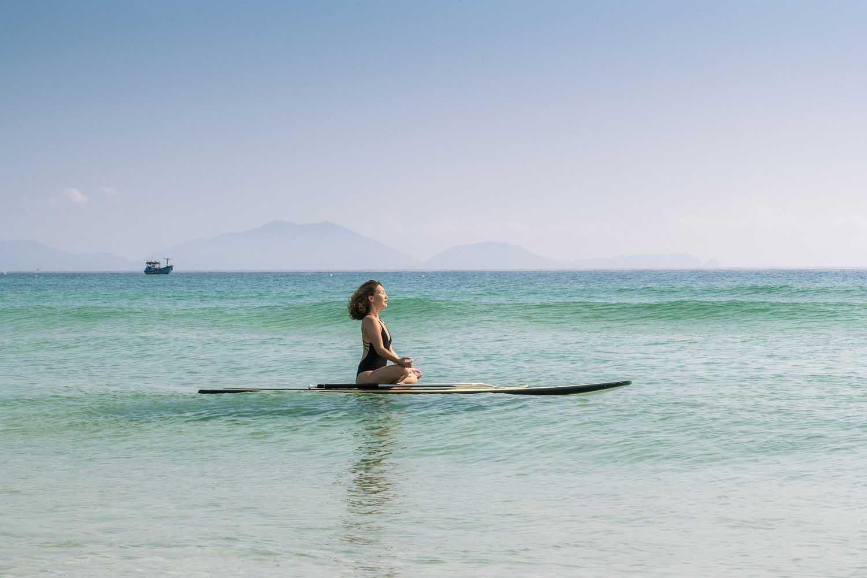 Mediation on the sea Duyen Ha resort Cam Ranh. Photo by Halo Digital Media - Hotel and Resort photography in Vietnam