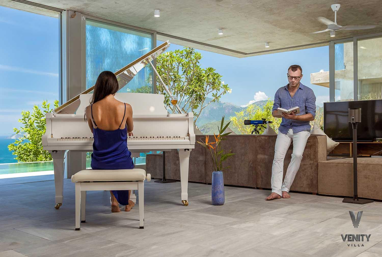 Piano room at Venity Villa Nha Trang - photography by Halo Digital Media - Photographer in Vietnam