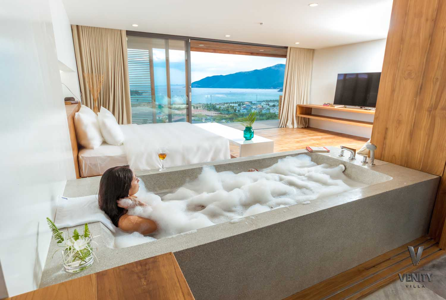 View from the bath at Venity Villa Nha Trang - photography by Halo Digital Media - Photographer in Vietnam