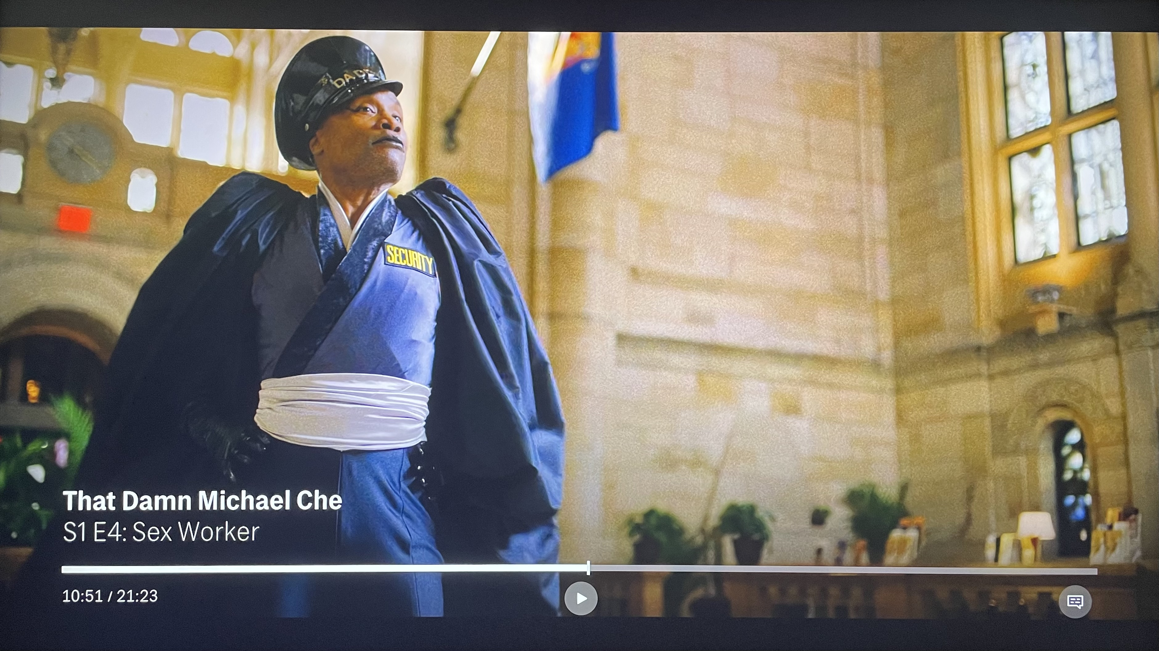 The new timeline UI & Billy Porter in an episode of 'That Damn Michael Che' on HBO Max