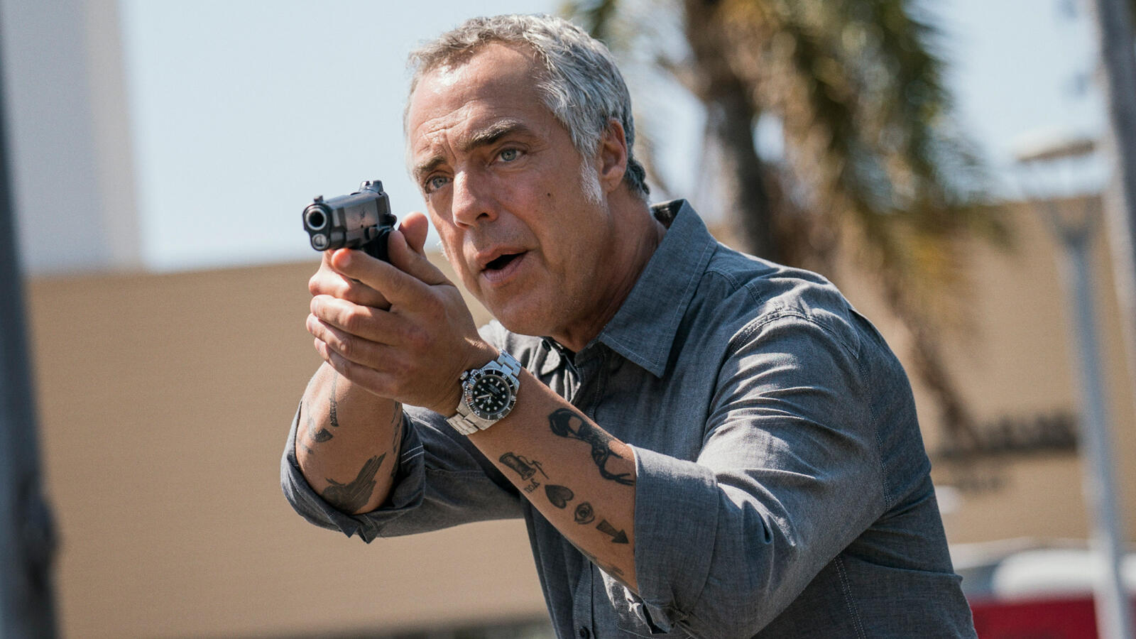 Im age of Titus Welliver as Harry Bosch in the TV series Bosch