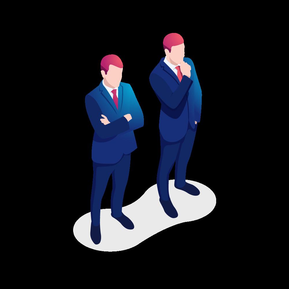 Two men thinking