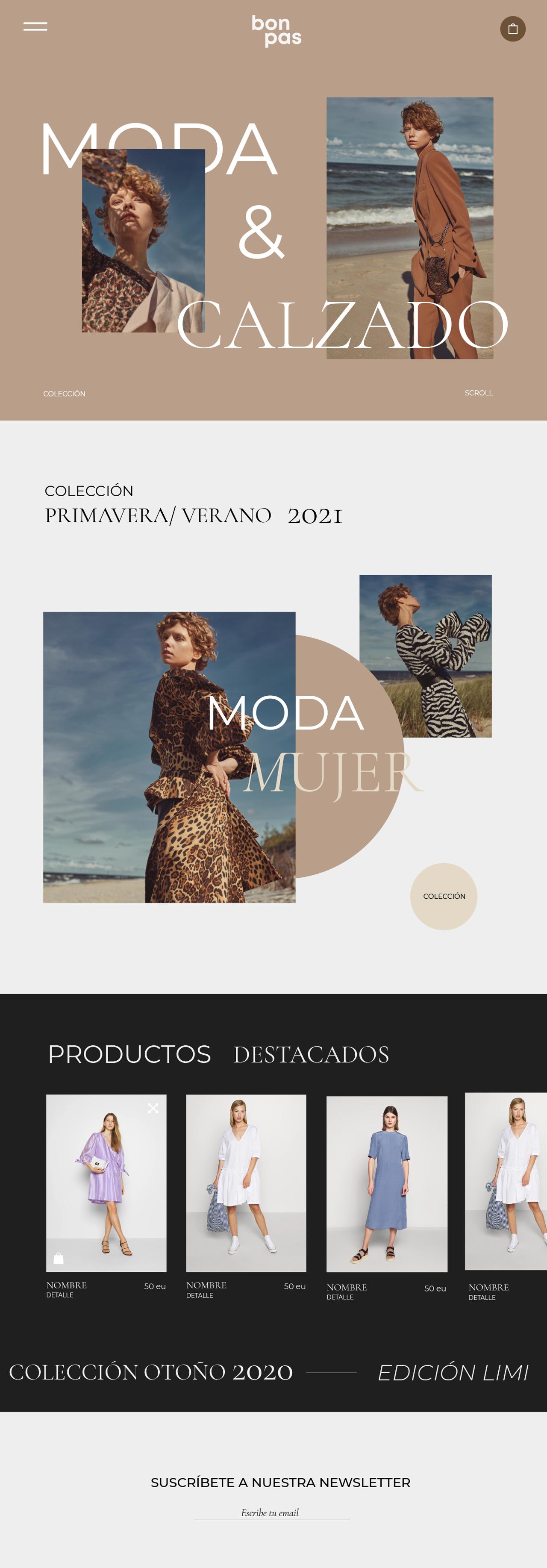 Tienda Online moda y complementos blue commerce