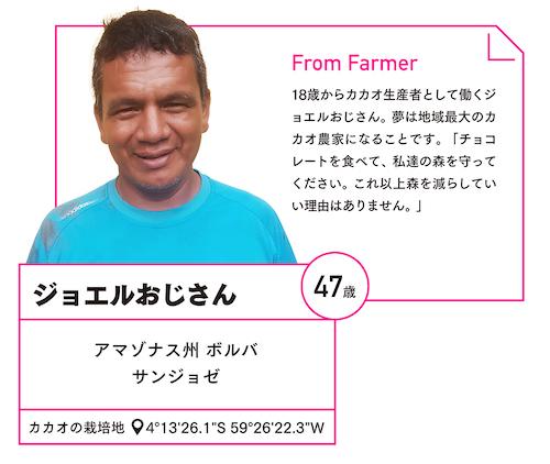 アマゾンの農家ジョエルの写真