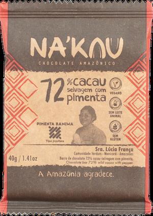 Na'kau のバニワ民族が1000年以上使うチリ入りチョコレートのパッケージ