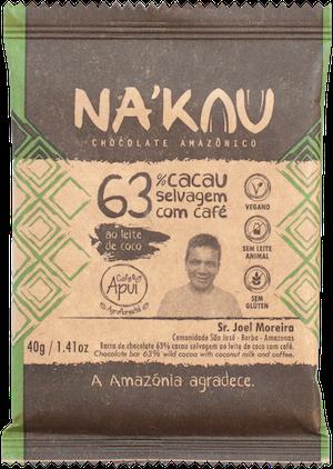 Na'kau のアグロフォレストリーコーヒー入りチョコレートのパッケージ