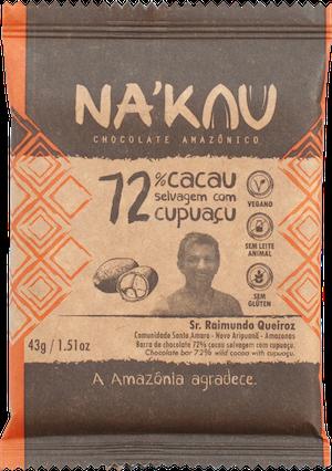 Na'kau のクプアス入りチョコレートのパッケージ