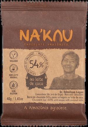 Na'kau 54% の生産農家が写った商品パッケージ