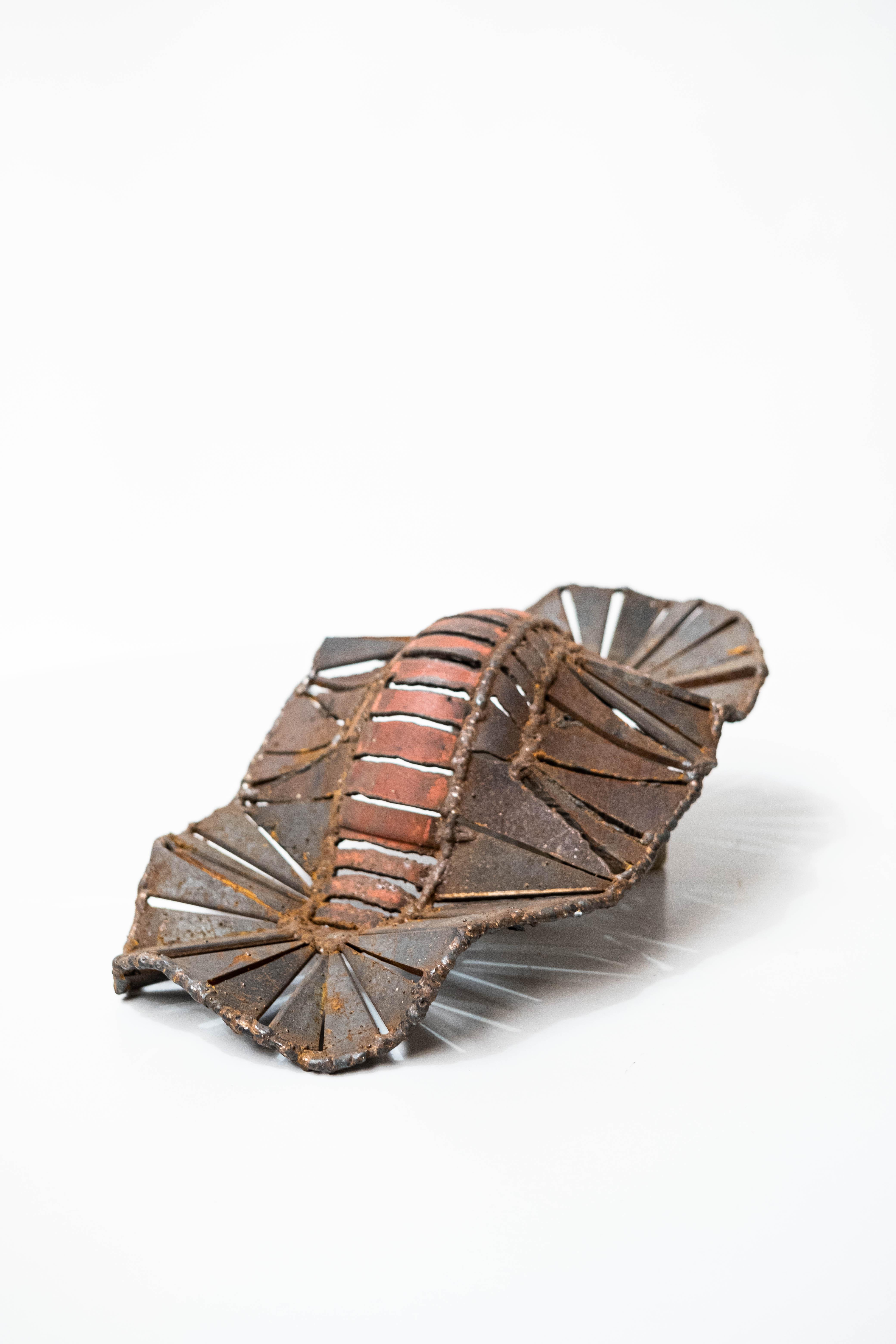 sculpture metal outdoor sea snail marisja smit art