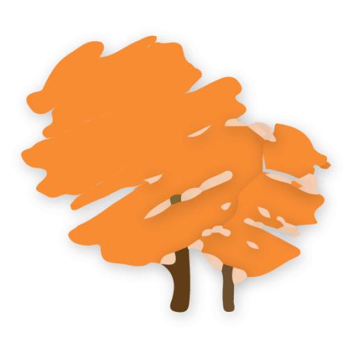 Zeichnung eines Baumes durch Streusalz geschädigt