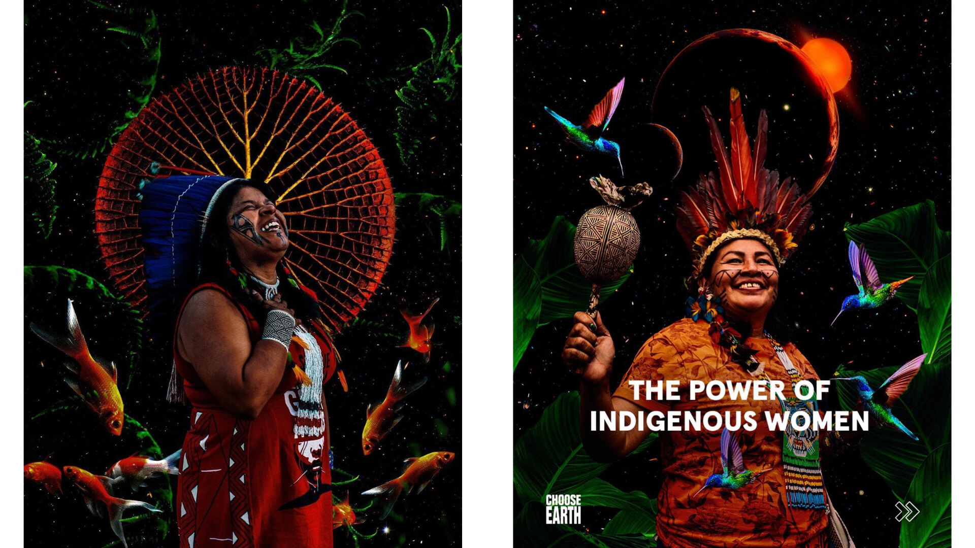 CHOOSE EARTH posters with female indigenous leaders