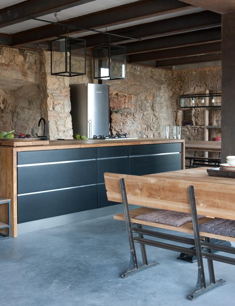 keuken van vakantiehuis in Fonteta, Spanje