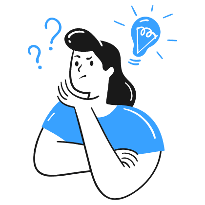 A female trying to remember what to do as there is a question marks on top of her head. This shows that our memory is not good as we think it is. That is why we externalise them by making a to-do list.