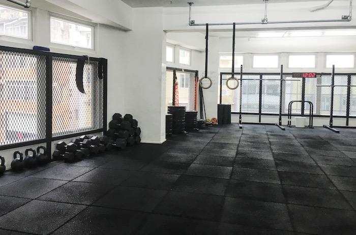 the interior of guardian fitness hong kong