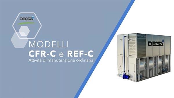 Manutenzione ordinaria per raffreddatori evaporativi REF‑C e condensatori evaporativi CFR‑C