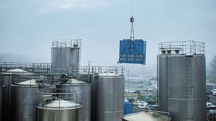 Installazione Condensatori Evaporativi presso lo stabilimento Galbani [video]