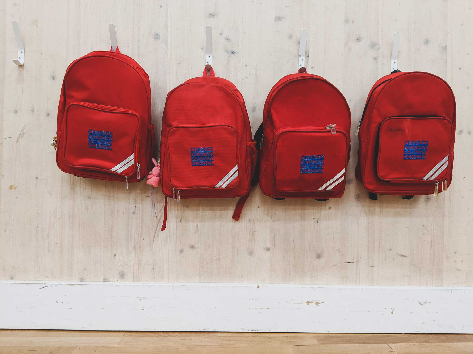 Bags on wall