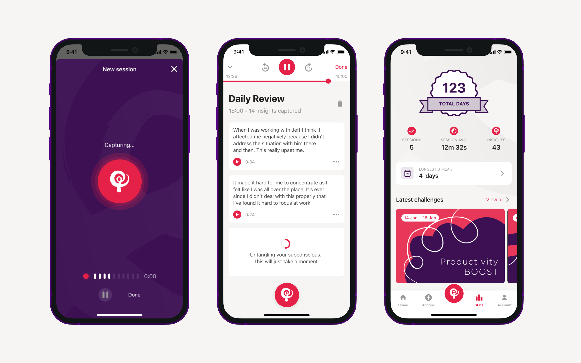 Talk It Out is a fun, simple, and human way to untangle your thinking and unlock positive mental wellbeing. We partnered with Talk It Out to transform their wellbeing program into an iOS/Android experience.