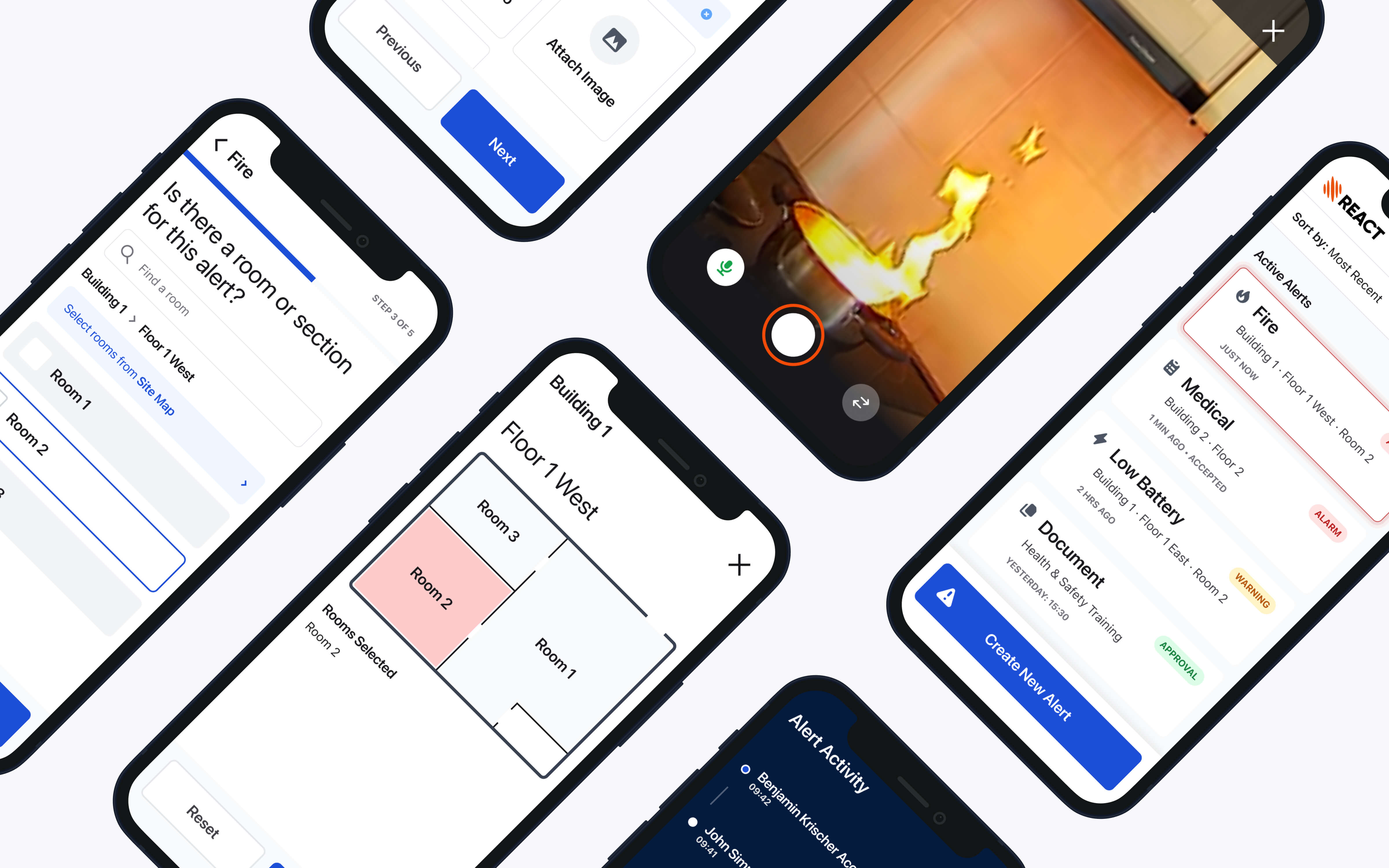We ran a five day Design Sprint to help Ramtech improve their existing REACT App. As well as refining the look and feel of the product, we also needed to reduce delays in dealing with an incident by making the process of sending and accepting an alert as painless as possible.