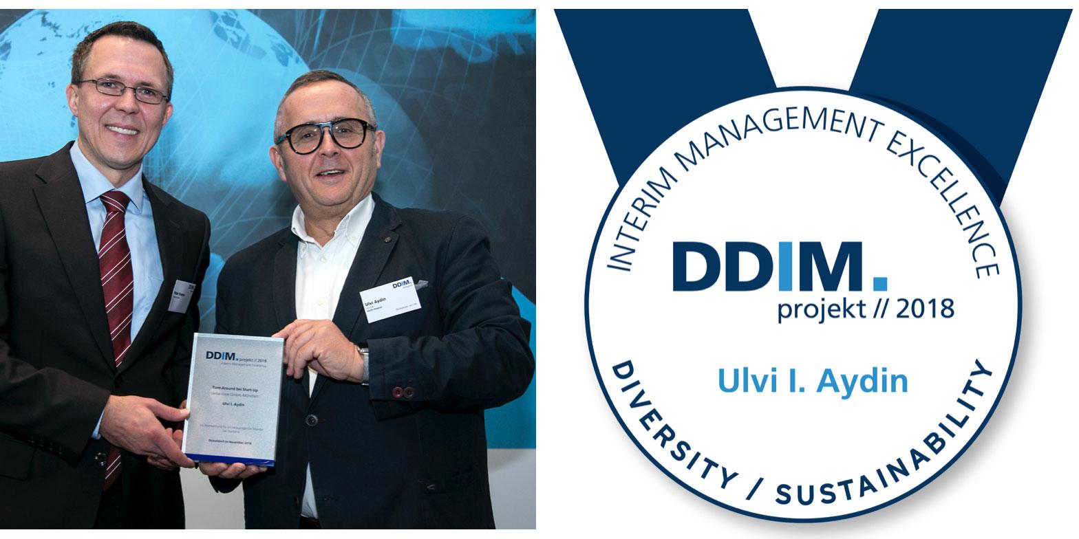 DDIM Interim Management Projekt des Jahres 2018 geht an Ulvi Aydin