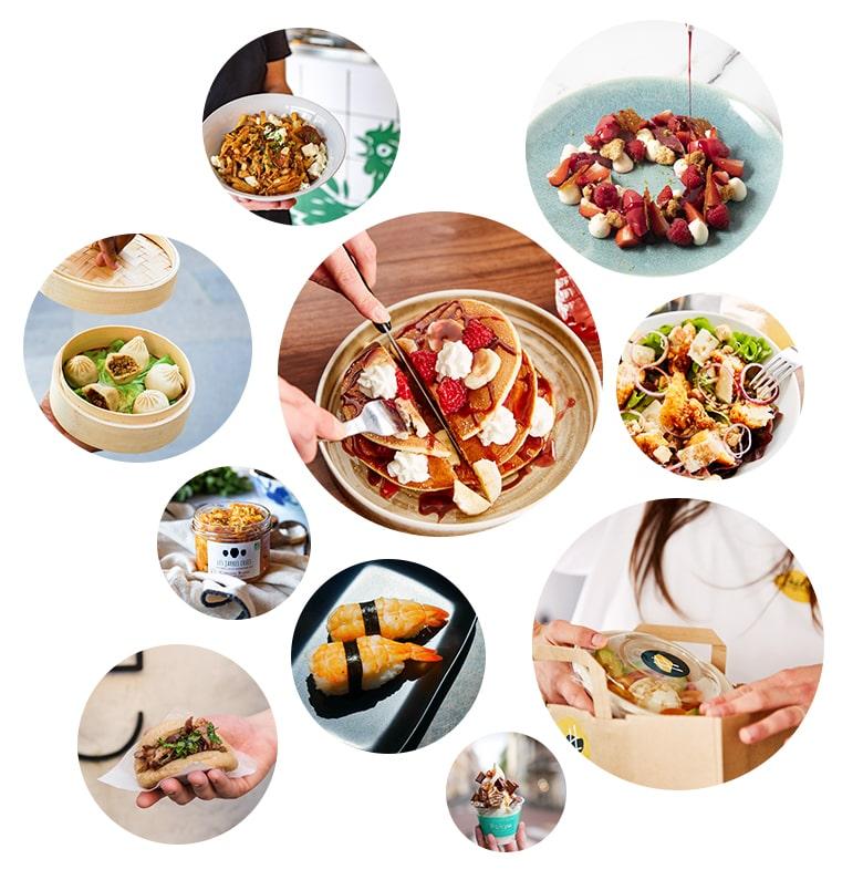 Multiple photo de repas de restaurants