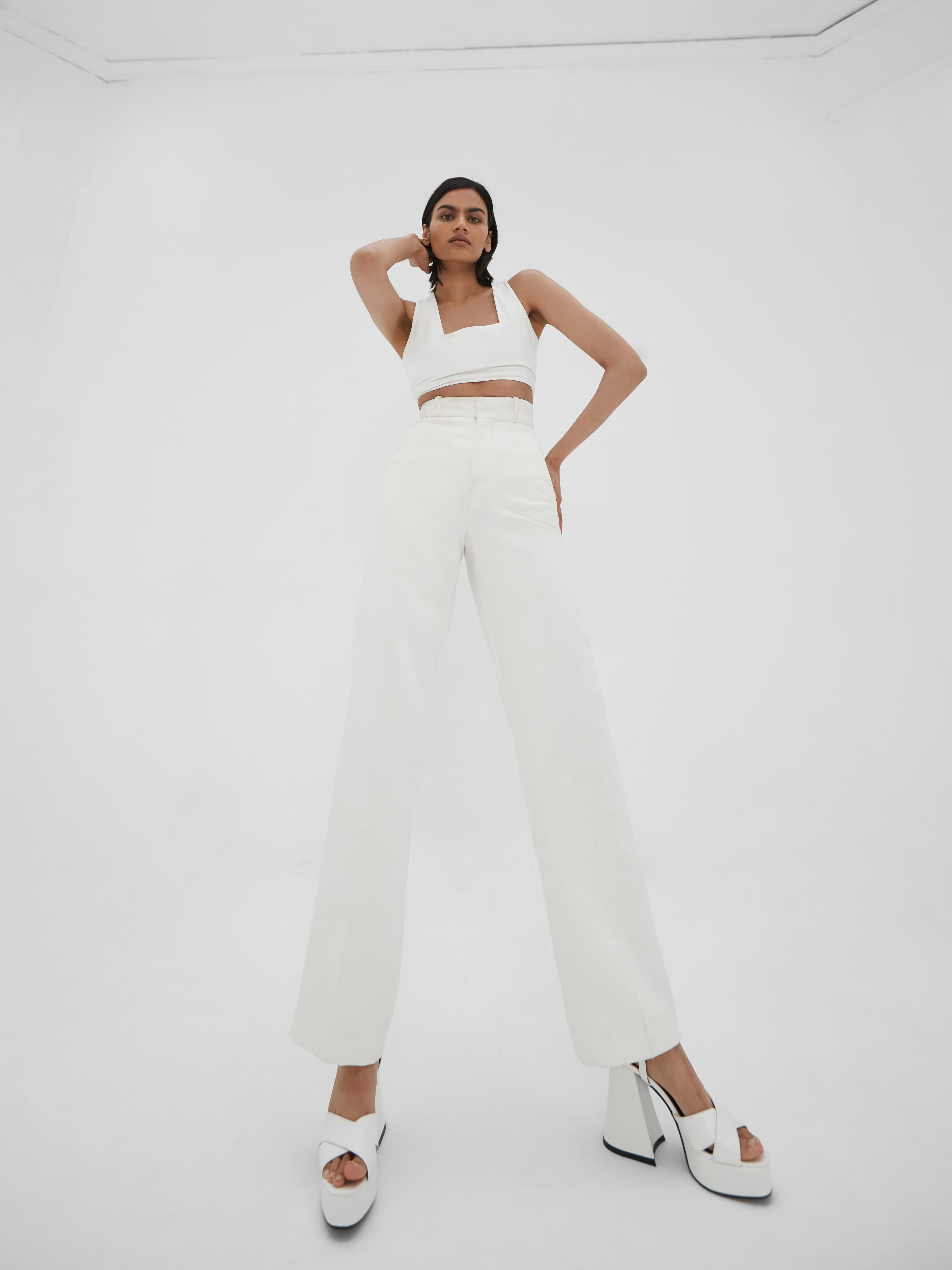 Kinza Trousers Ivory