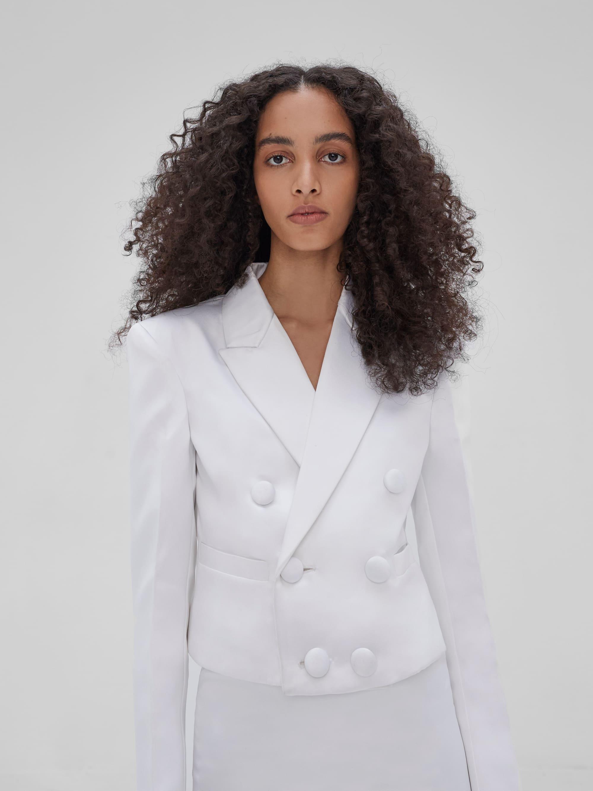 Kin Cropped Blazer Ivory