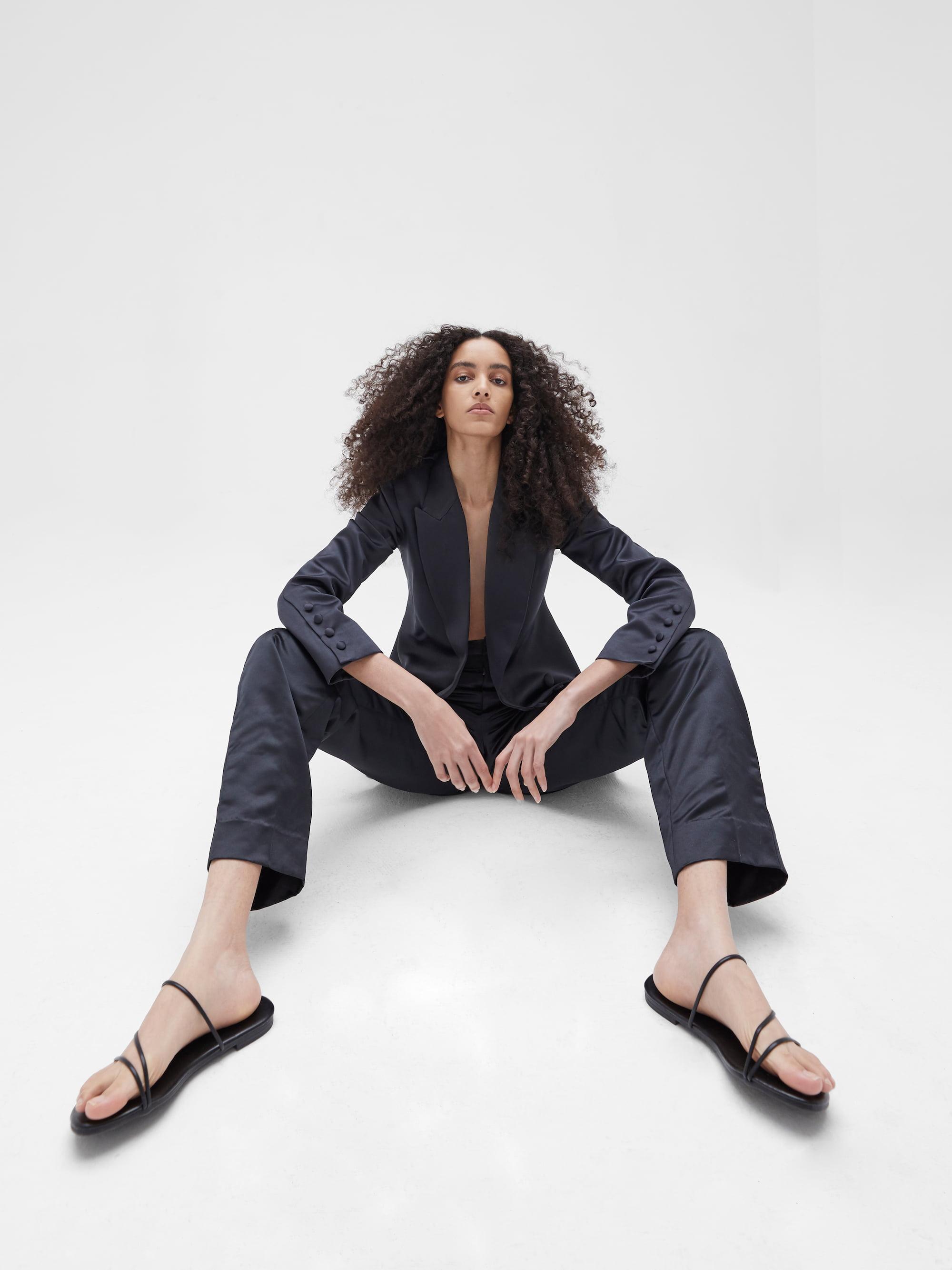 View 5 of model wearing Kamala Blazer in black.