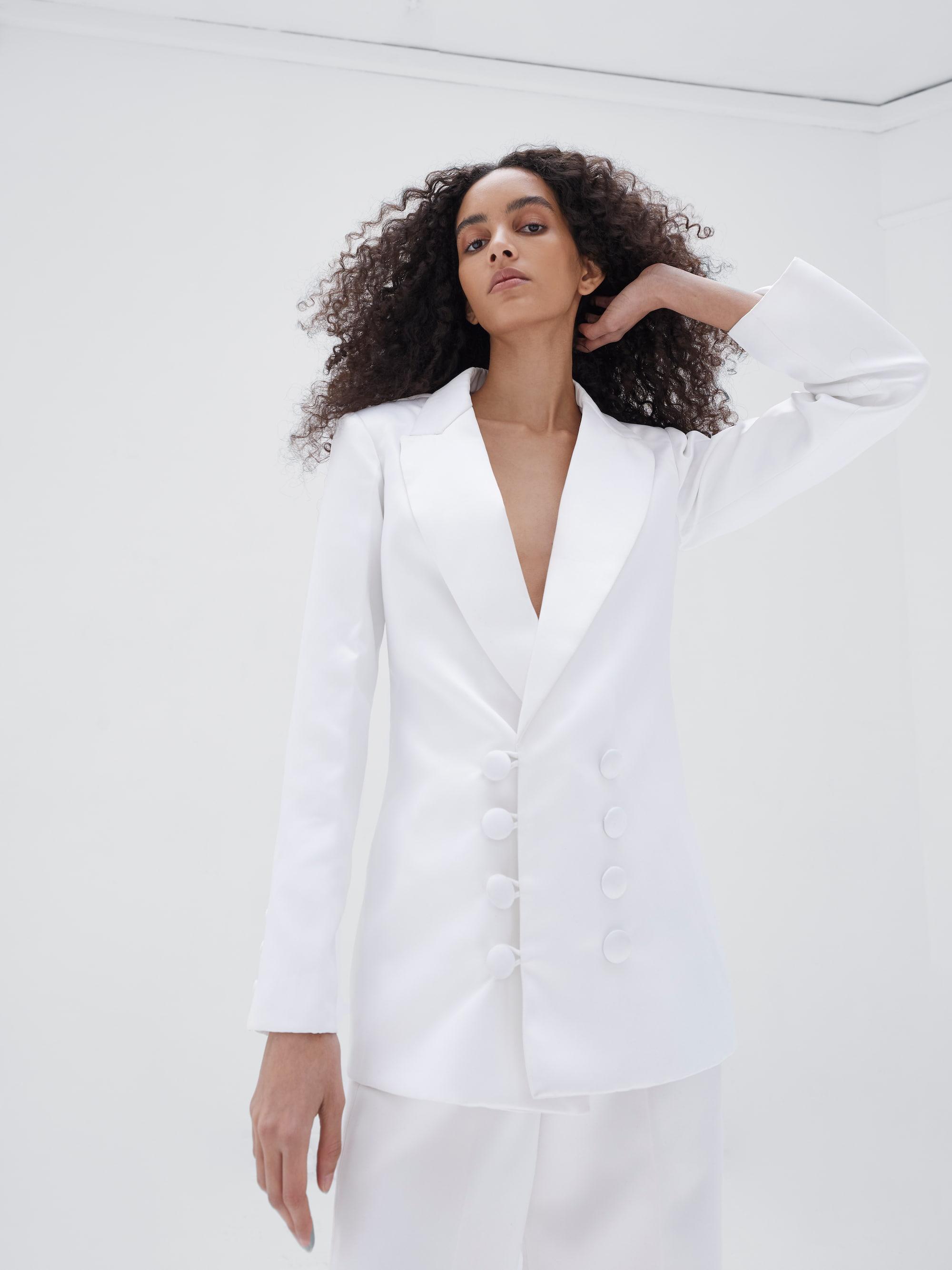 Kamala Blazer Ivory
